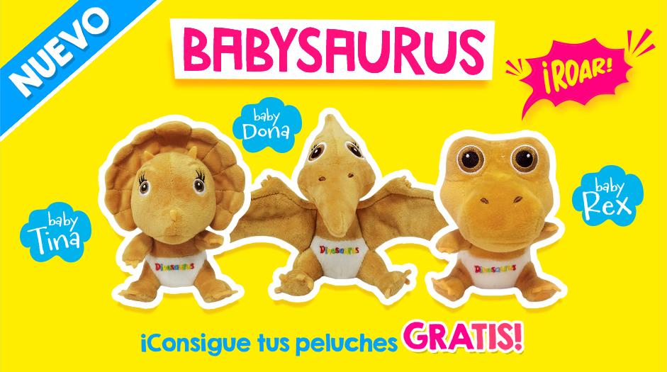 Nuevo Babysaurus. ¡Consigue tu peluche GRATIS!