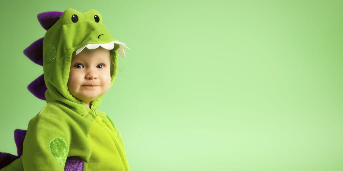 Green Baby Dinosaur