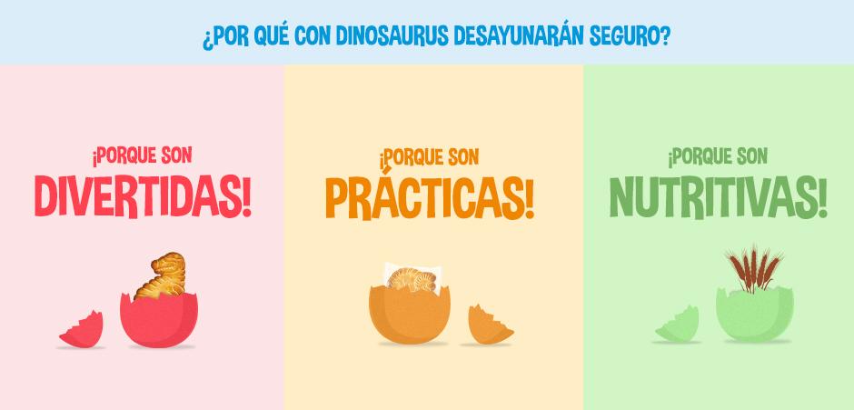 con dinosaurus desayunaran seguro