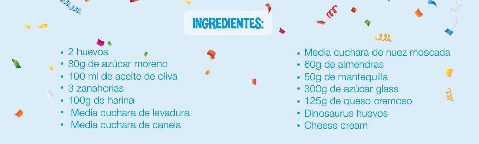 ingredientes para hacer un pastel de zanahoria
