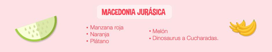 Plato jurasico: Ingredientes macedonia jurasica